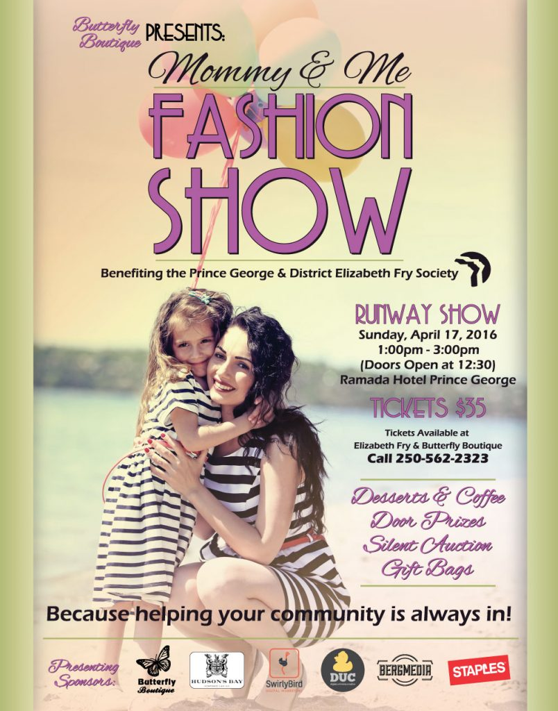 2016 Mommy & Me Fashion Show poster